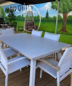 שולחן 1.73 כולל כסאות